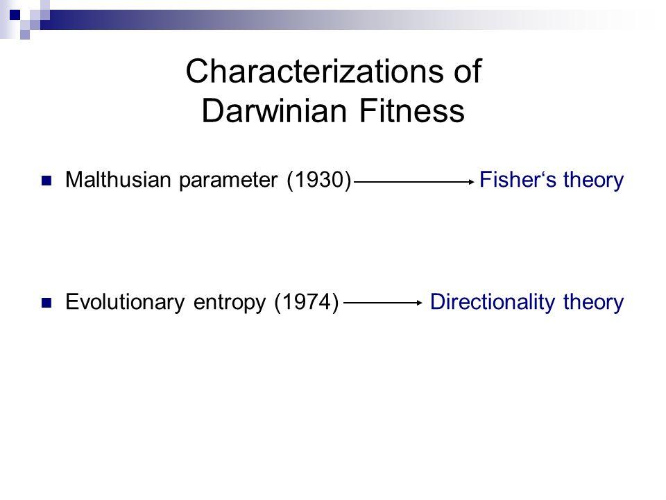 Characterizations of Darwinian Fitness