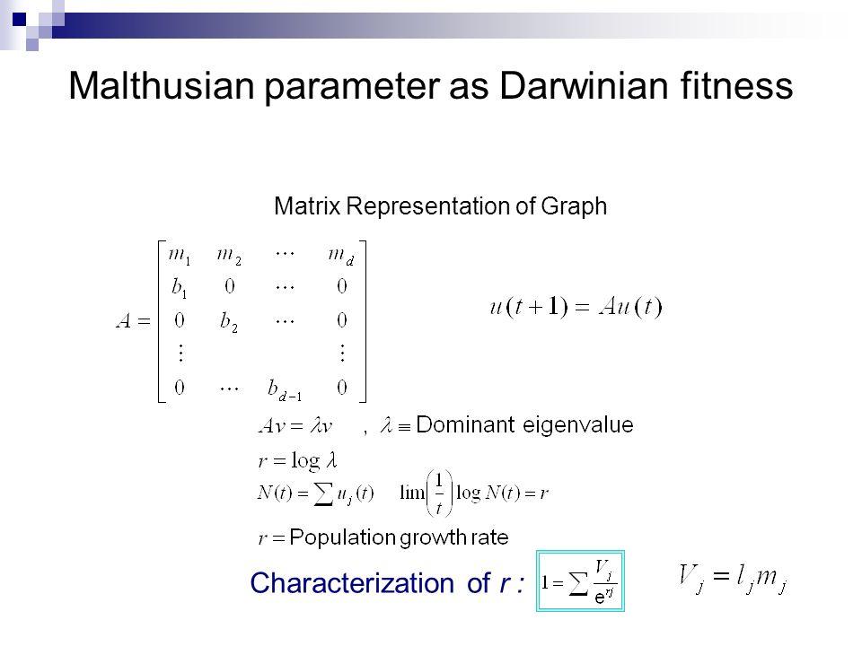 Malthusian parameter as Darwinian fitness