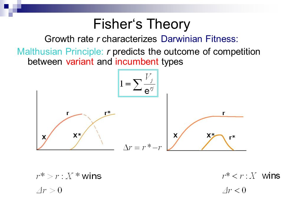 Growth rate r characterizes Darwinian Fitness: