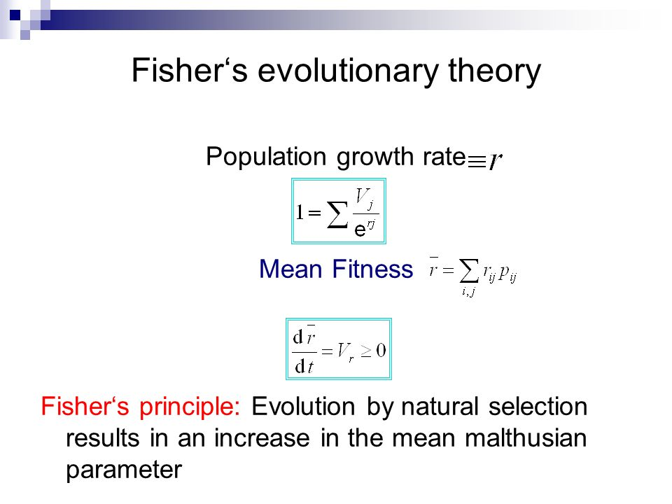 Fisher's evolutionary theory