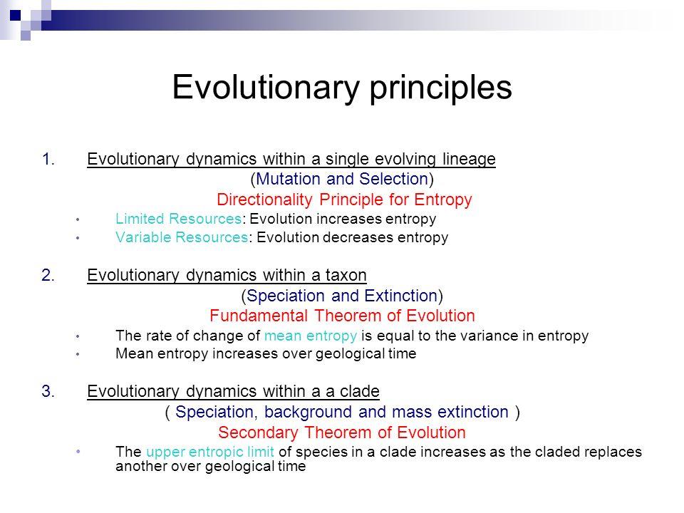 Evolutionary principles