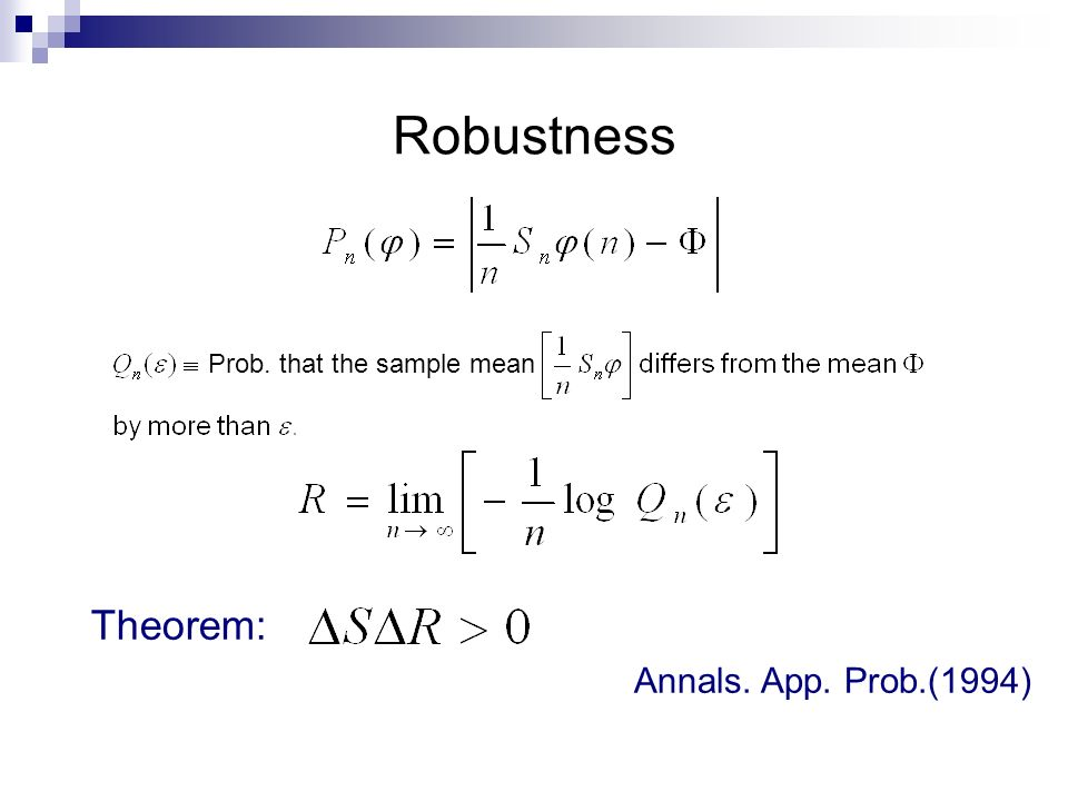 Robustness Theorem: Annals. App. Prob.(1994)