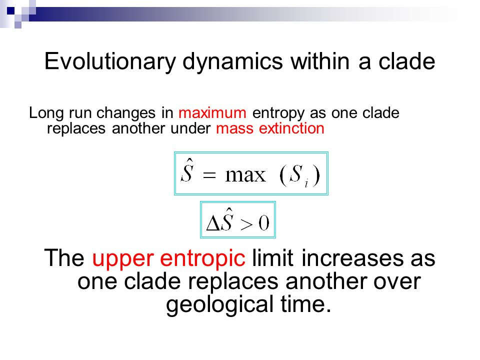 Evolutionary dynamics within a clade