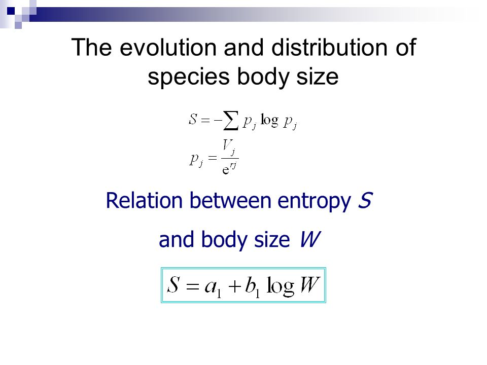 The evolution and distribution of species body size