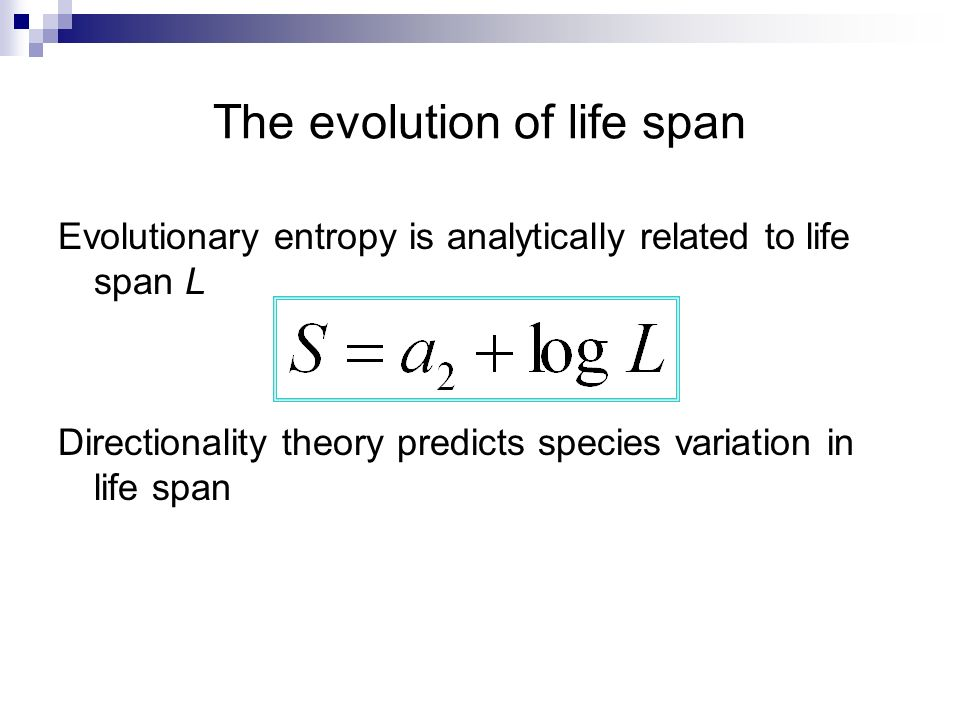 The evolution of life span