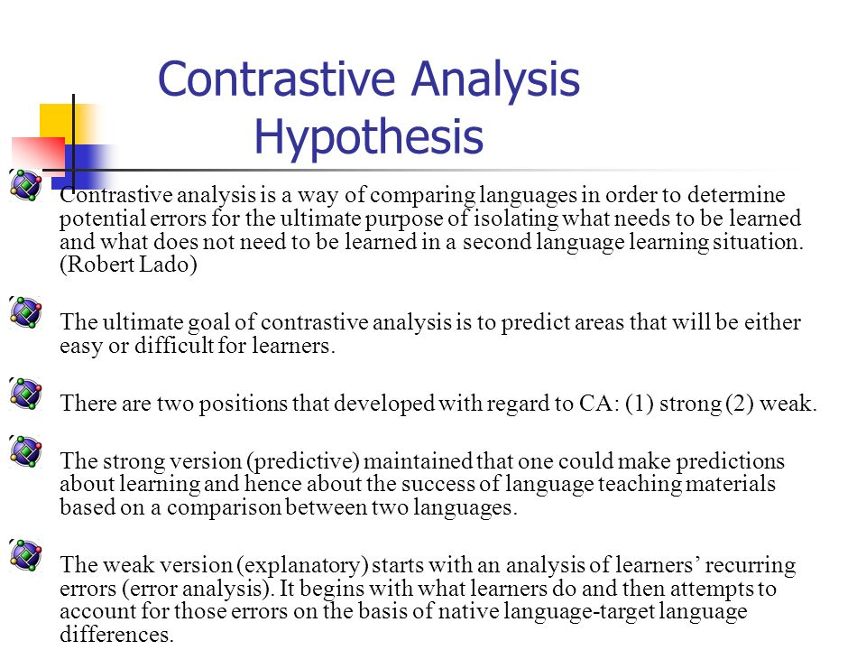 contrastive analysis book