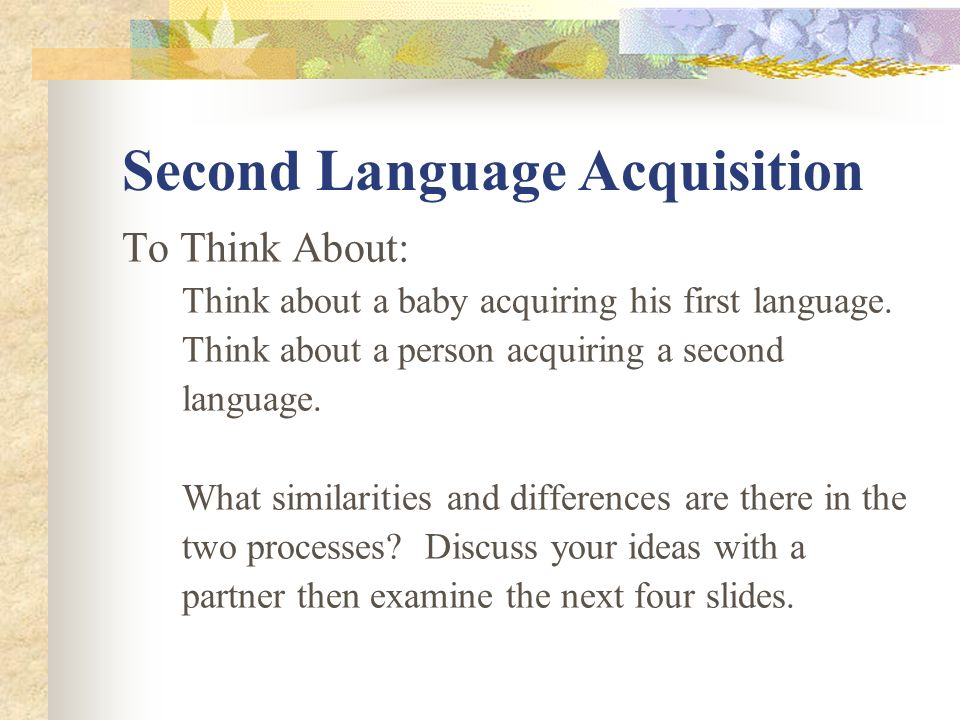 Motivation as a Contributing Factor in Second Language Acquisition