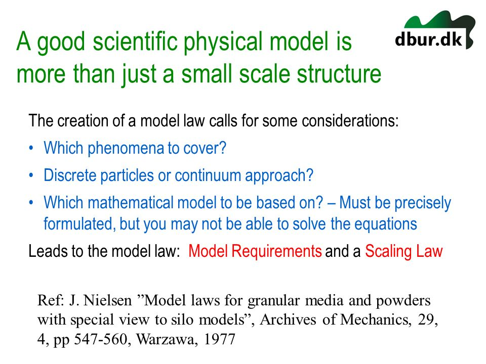 A good scientific physical model is more than just a small scale structure