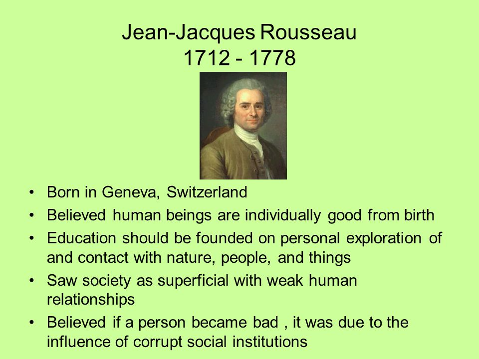 Rousseau and experience in education