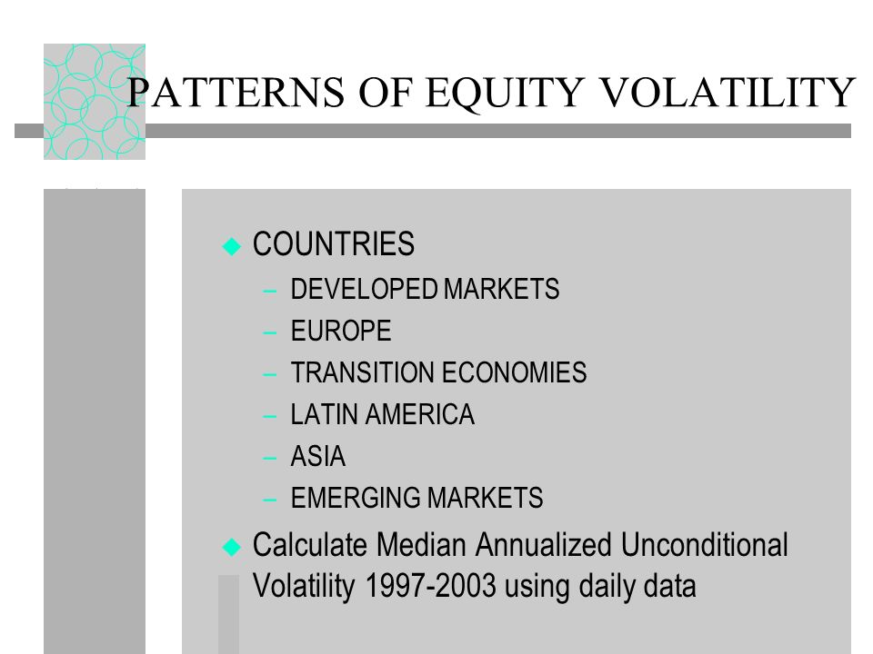 PATTERNS OF EQUITY VOLATILITY