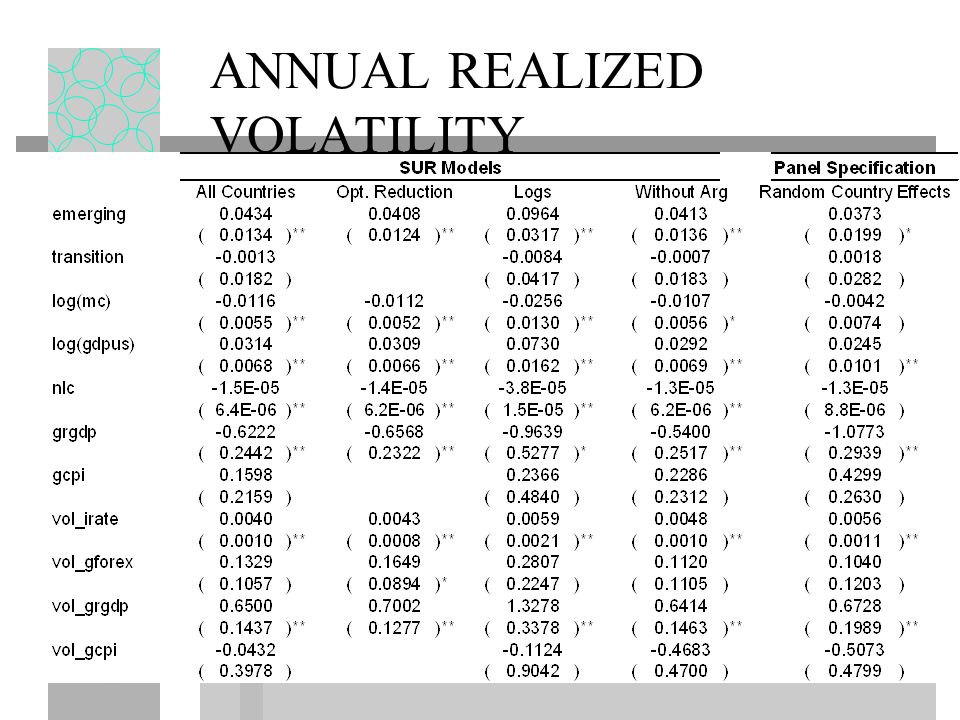ANNUAL REALIZED VOLATILITY