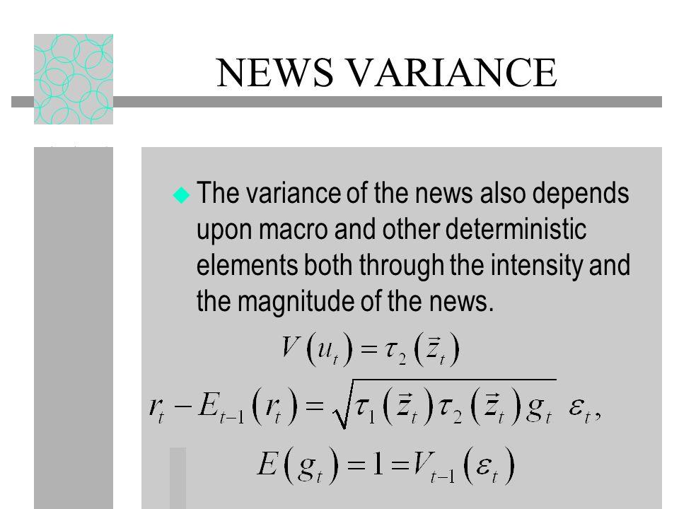 NEWS VARIANCE