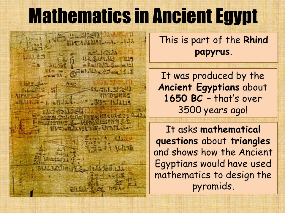 ancient egyptian math Solving an ancient tablet's mathematical mystery  babylonian arithmetic was  rather clumsy, but then so were egyptian and greek variations.