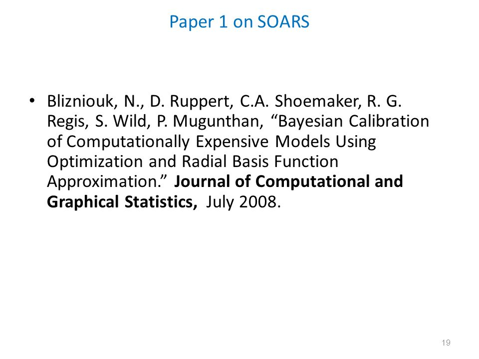 Paper 1 on SOARS
