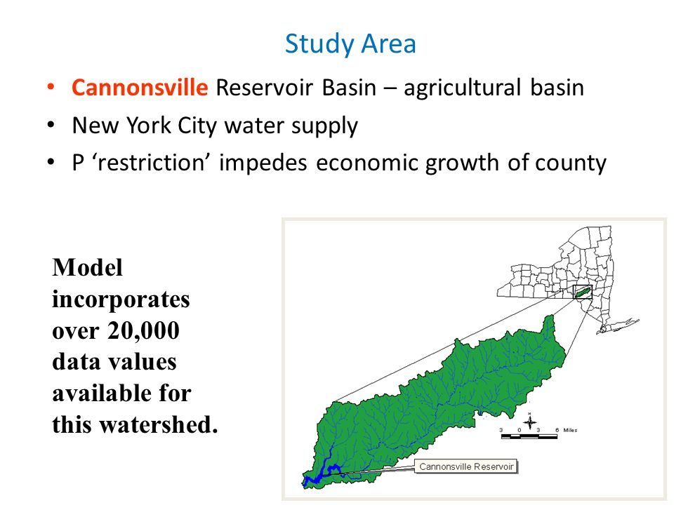 Study Area Cannonsville Reservoir Basin – agricultural basin