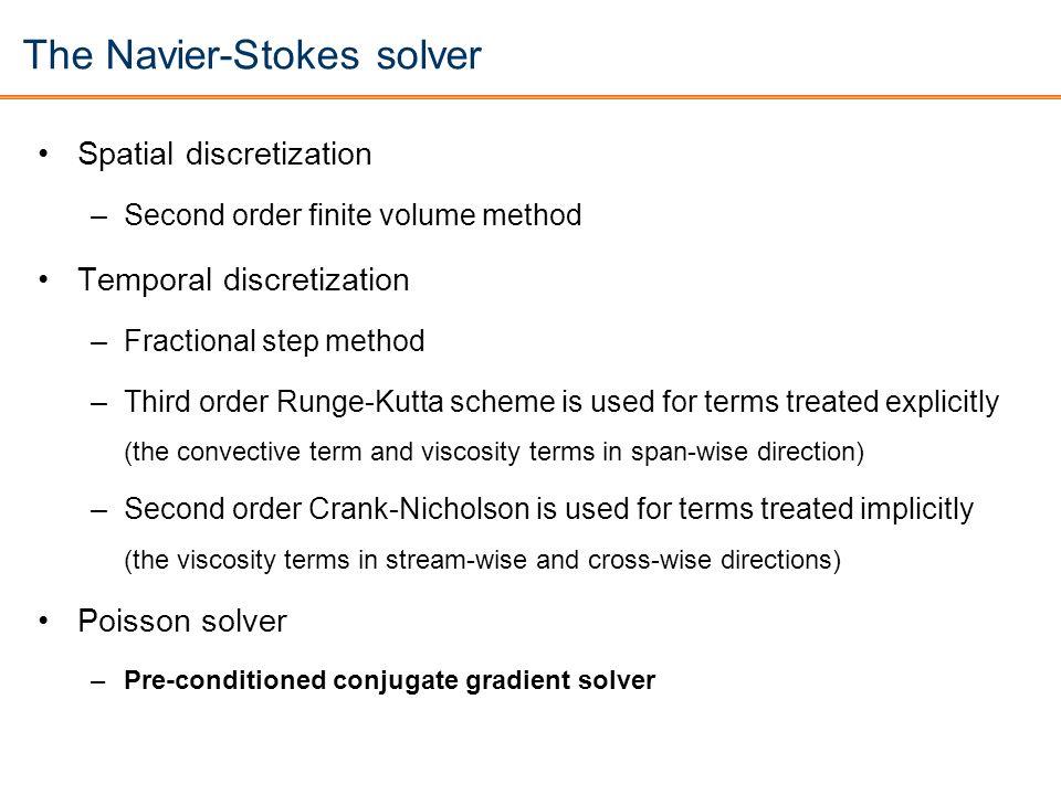 The Navier-Stokes solver