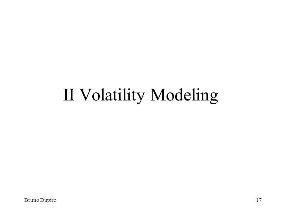 II Volatility Modeling