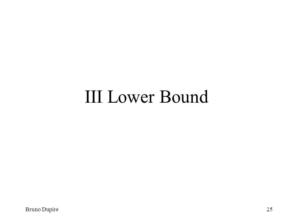 III Lower Bound Bruno Dupire