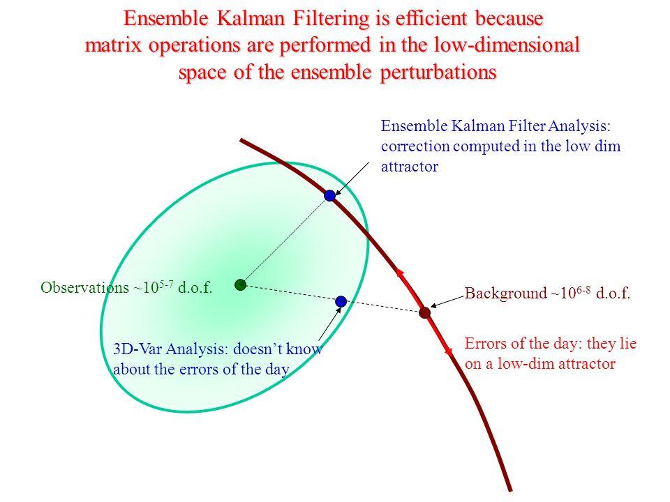 Ensemble Kalman Filtering is efficient because