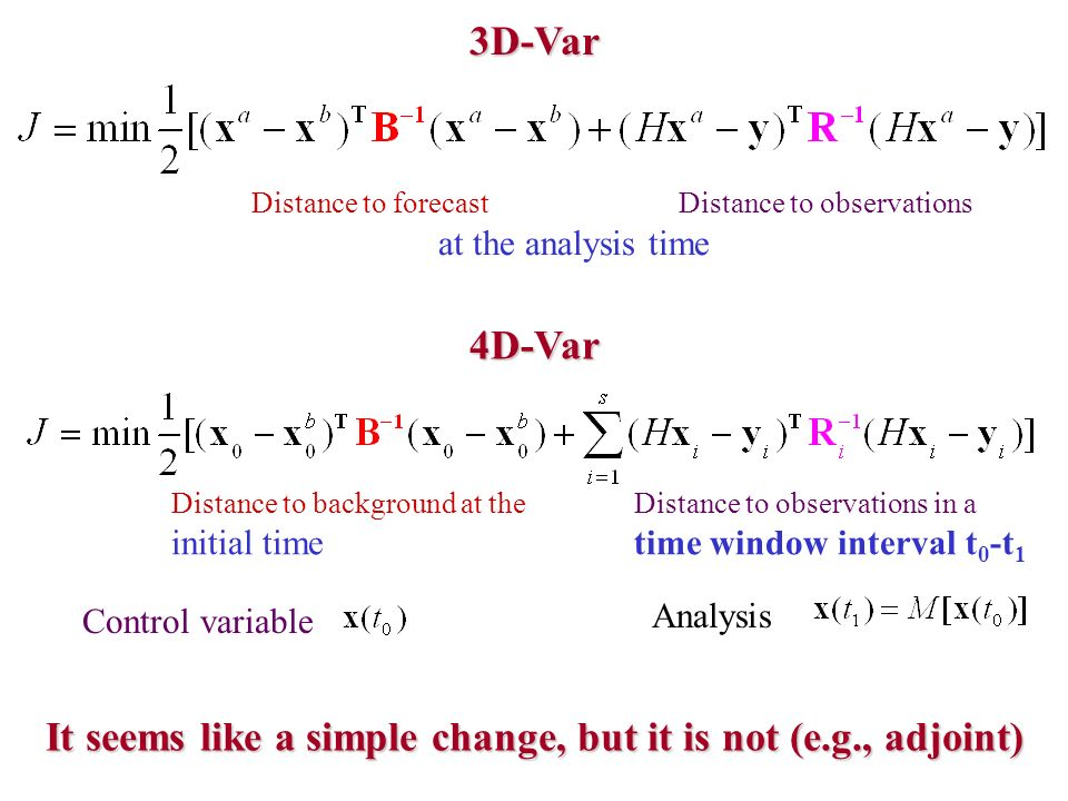 It seems like a simple change, but it is not (e.g., adjoint)