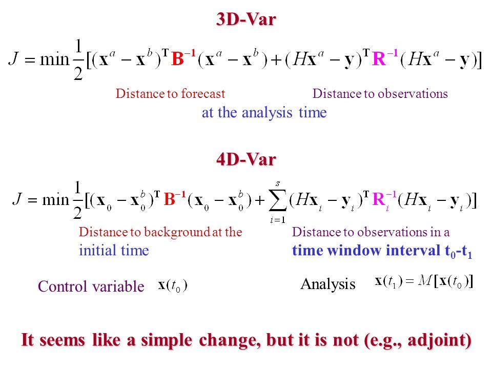It seems like a simple change, but it is not (e.g., adjoint)