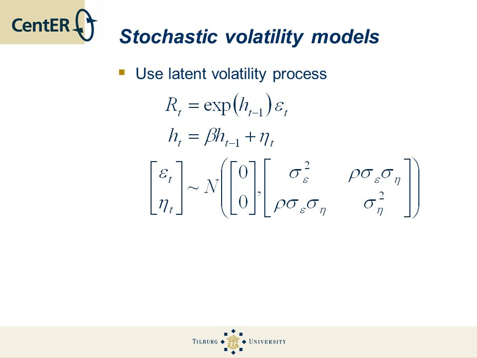 Stochastic volatility models