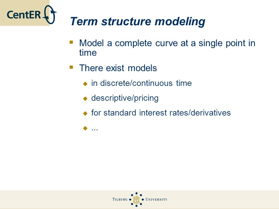 Term structure modeling