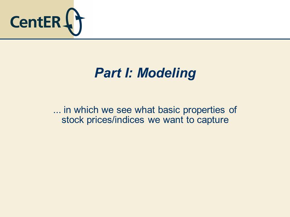Part I: Modeling ...