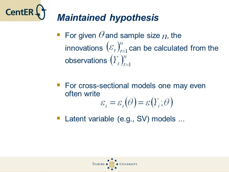 Maintained hypothesis