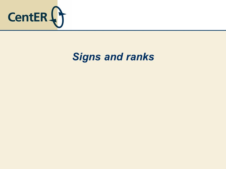 Signs and ranks