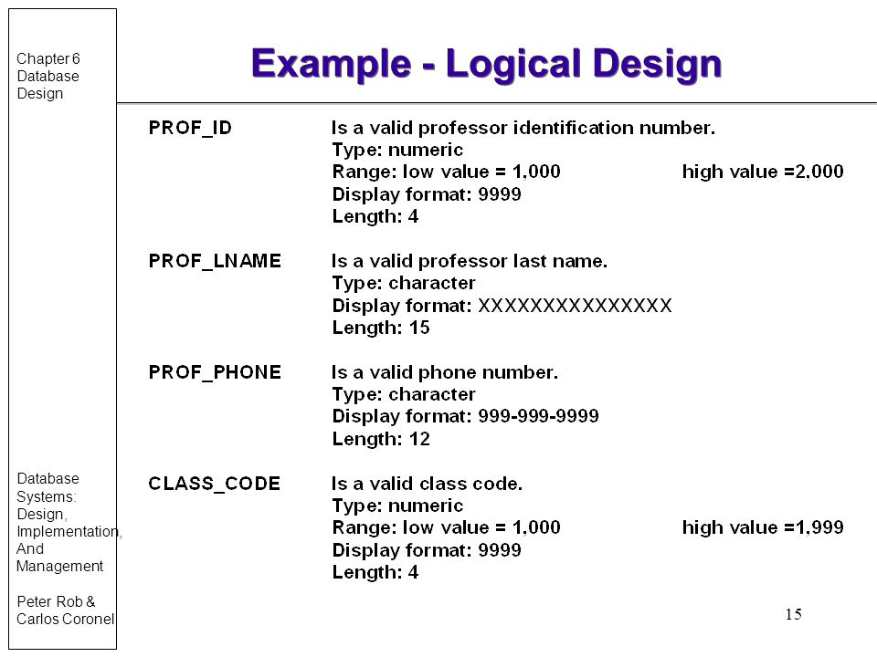 logical database design for hr management system A logical data model is independent of the database management system as it does not describe the physical structure of the real database when designing a logical data model non-formal long names can be used for entities and attributes.