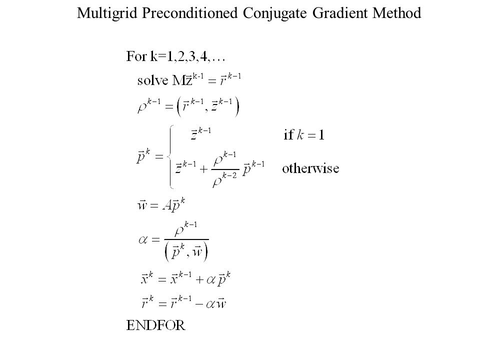 Multigrid Preconditioned Conjugate Gradient Method