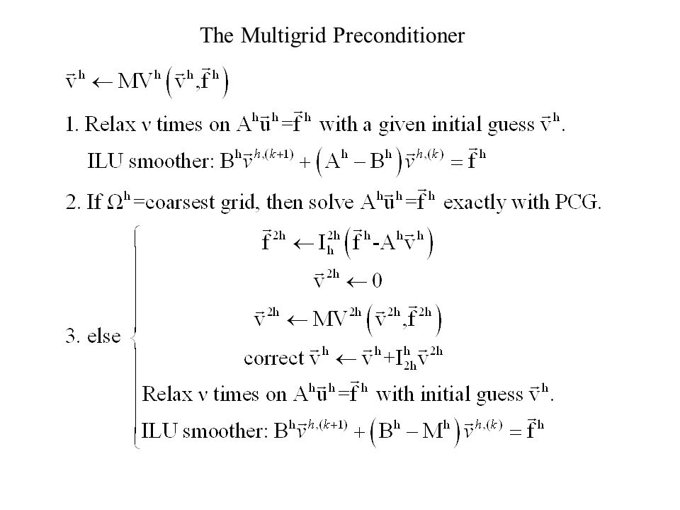 The Multigrid Preconditioner