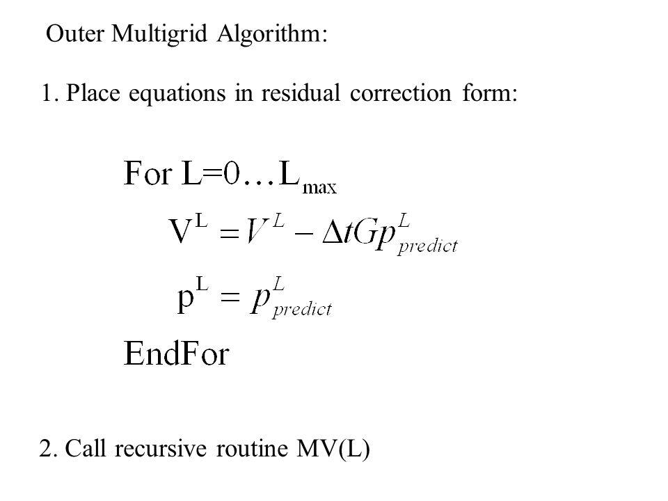 Outer Multigrid Algorithm: