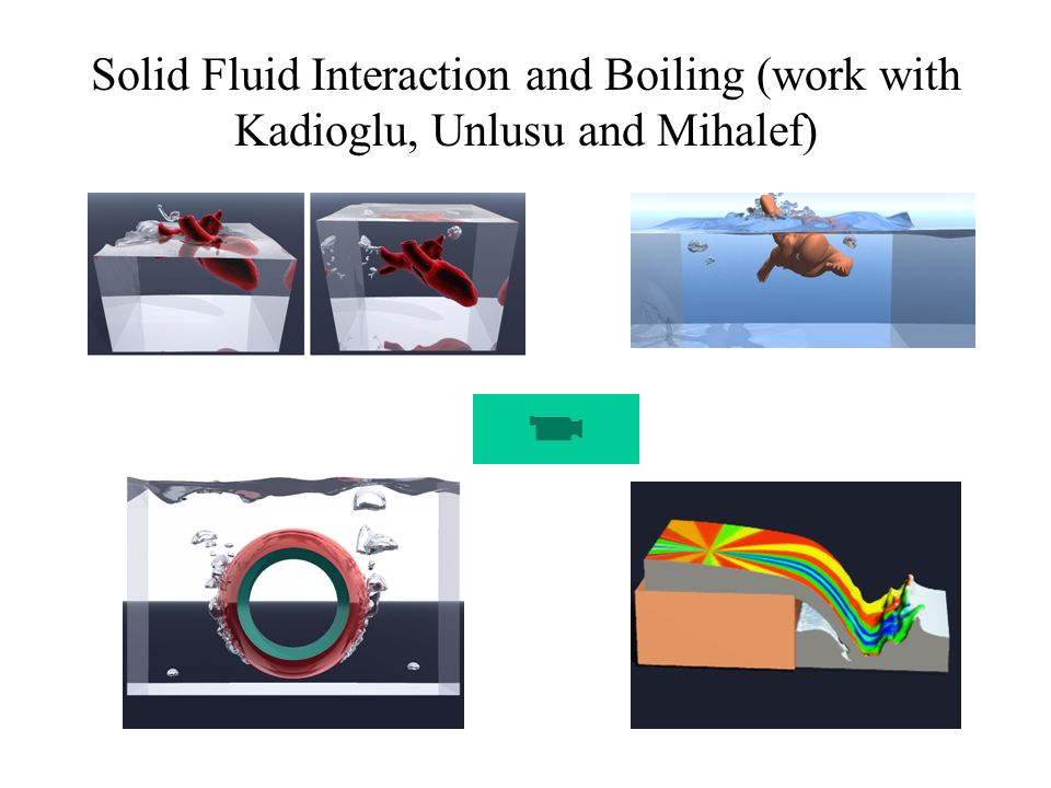 Solid Fluid Interaction and Boiling (work with Kadioglu, Unlusu and Mihalef)