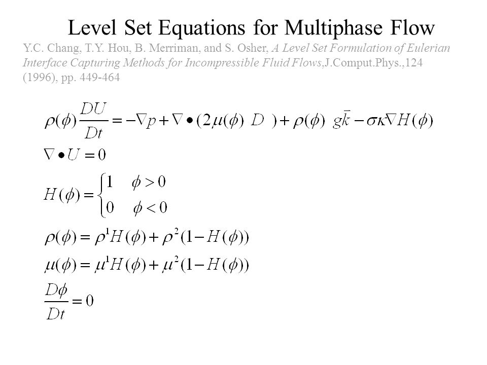 Level Set Equations for Multiphase Flow
