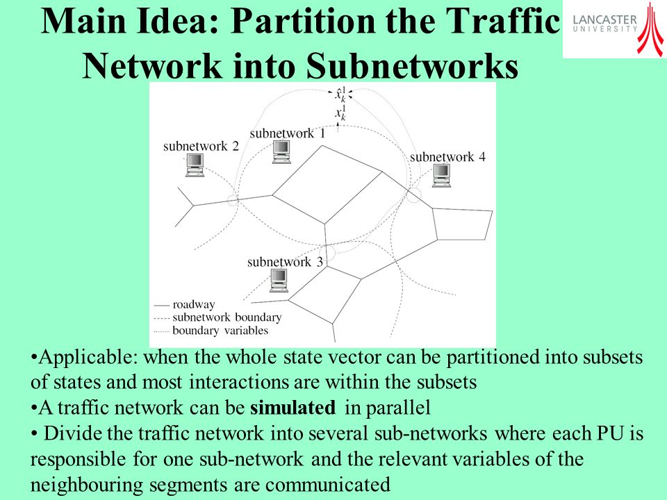 Main Idea: Partition the Traffic Network into Subnetworks