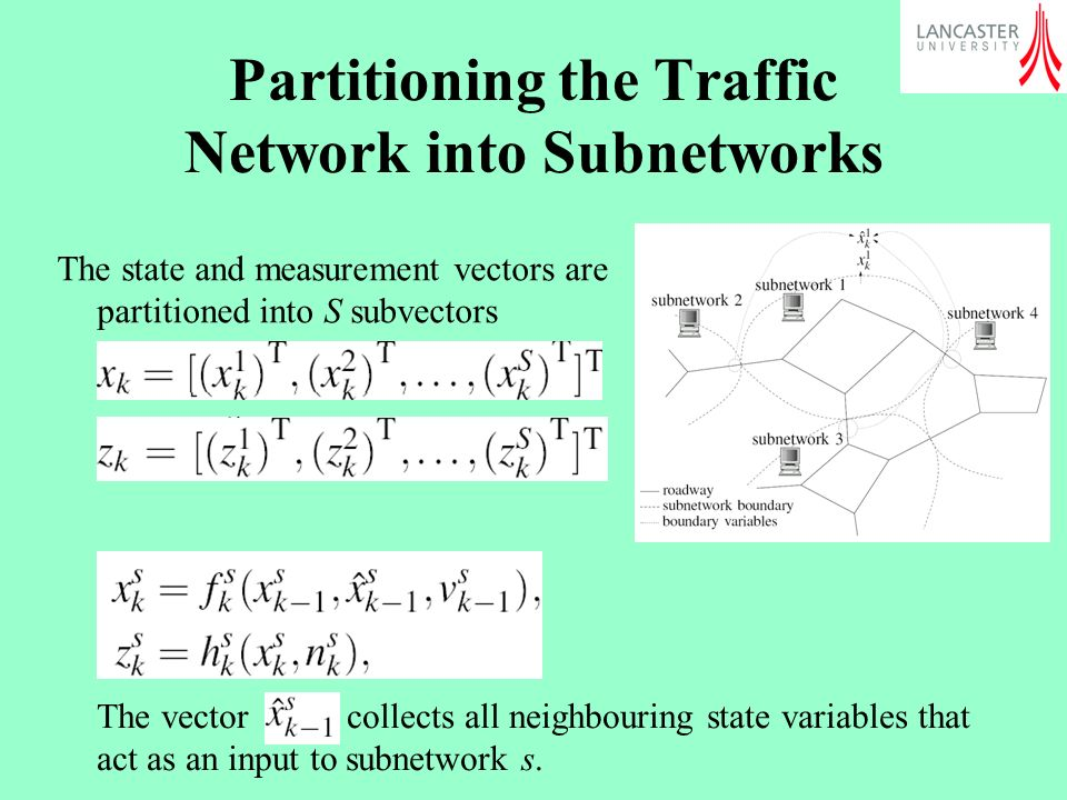 Partitioning the Traffic Network into Subnetworks