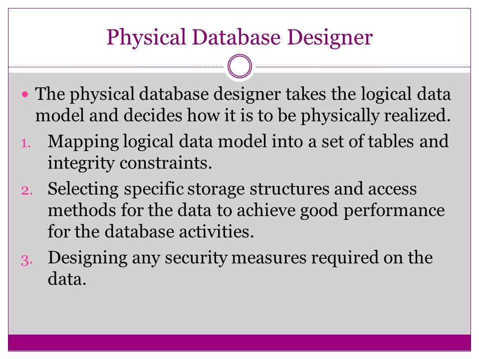 physical database designer - What Is Database Designer
