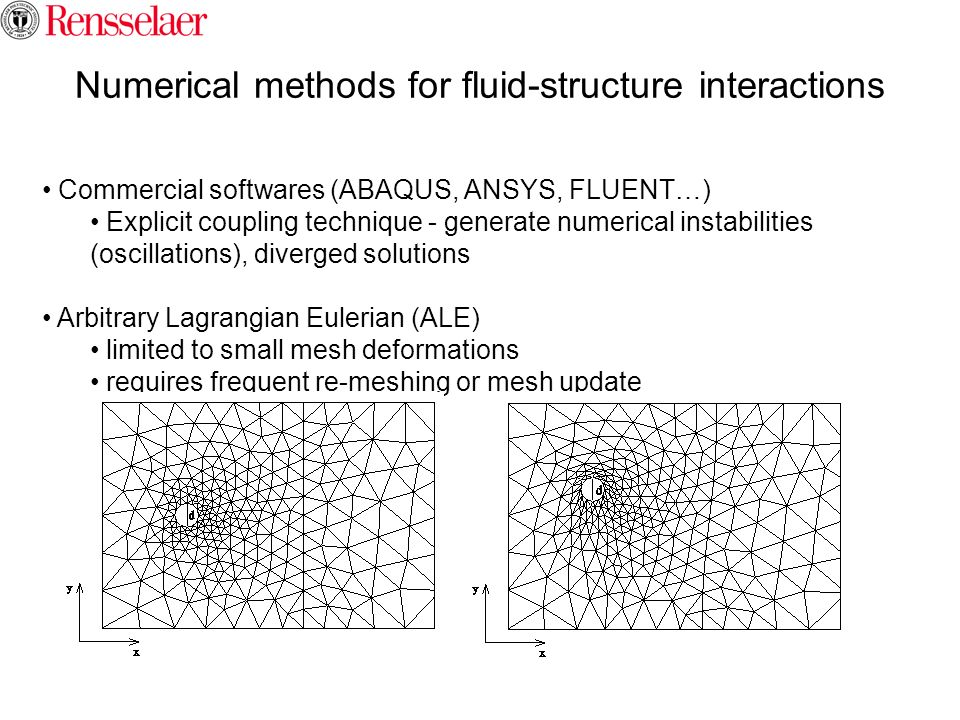 Numerical methods for fluid-structure interactions