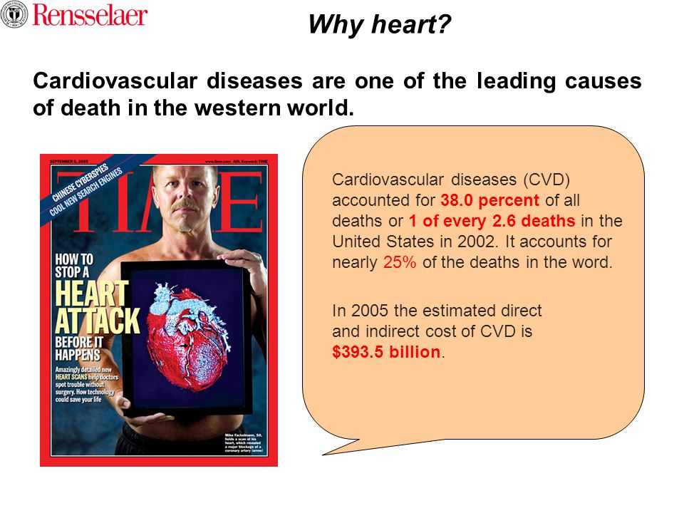 Why heart Cardiovascular diseases are one of the leading causes of death in the western world.