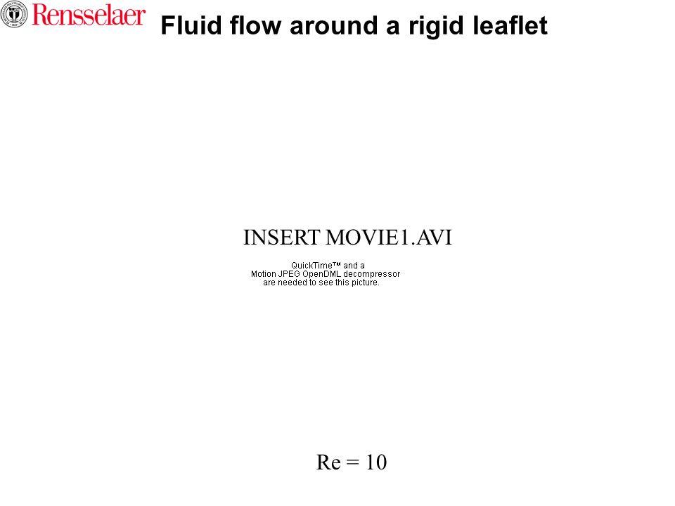 Fluid flow around a rigid leaflet
