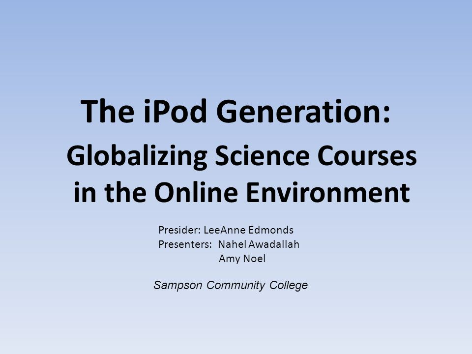 Globalizing Science Courses in the Online Environment
