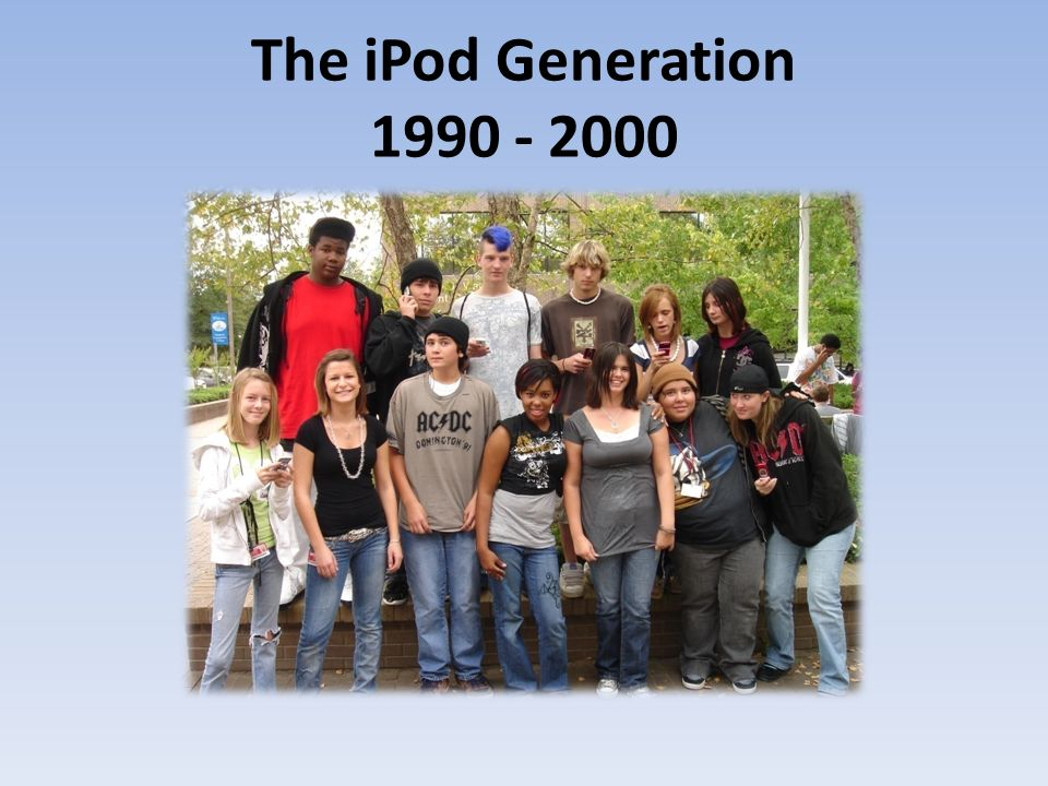 The iPod Generation 1990 - 2000