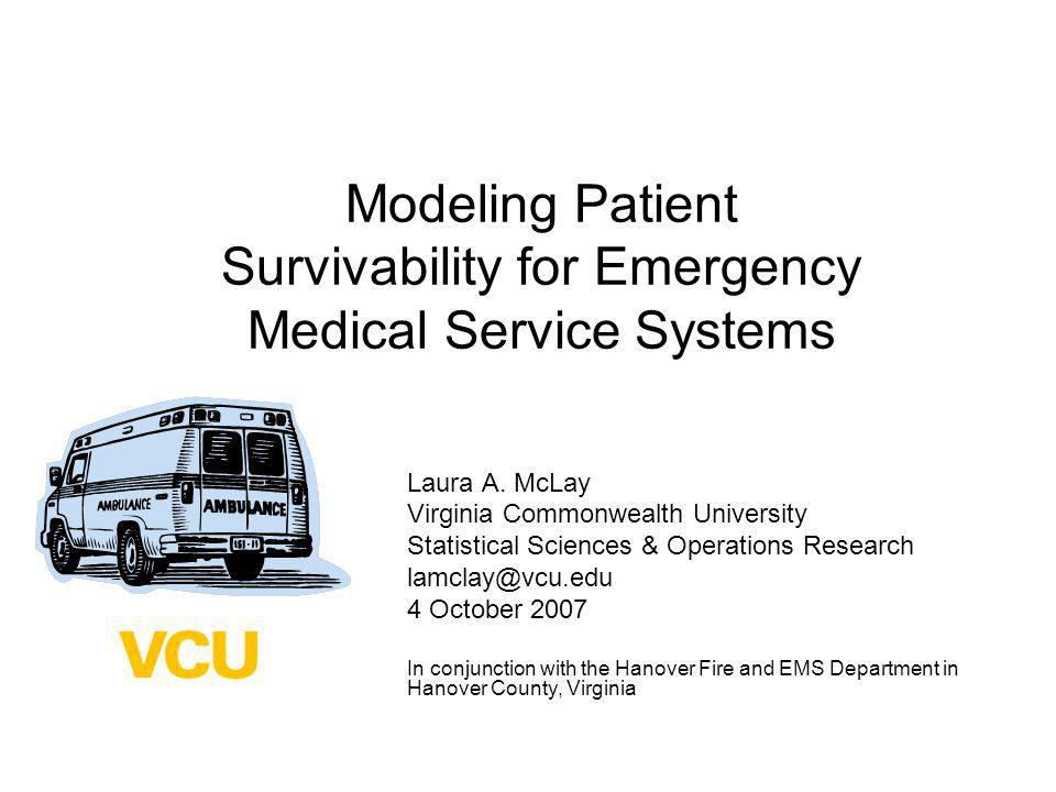 Modeling Patient Survivability for Emergency Medical Service Systems