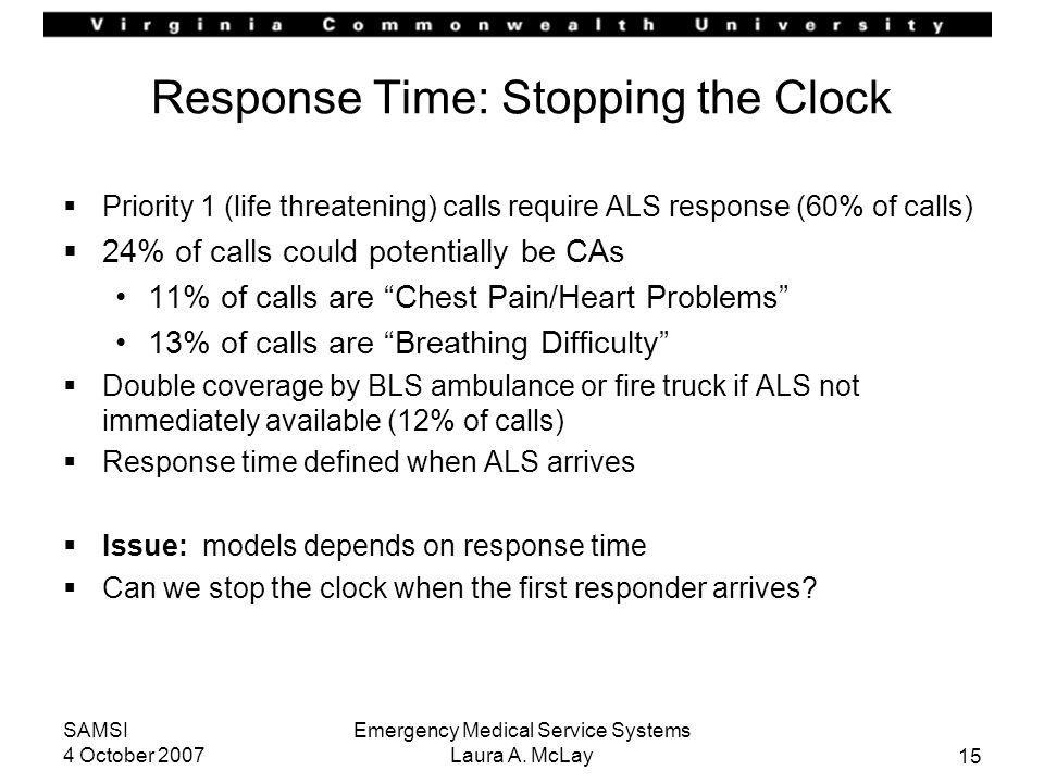 Response Time: Stopping the Clock
