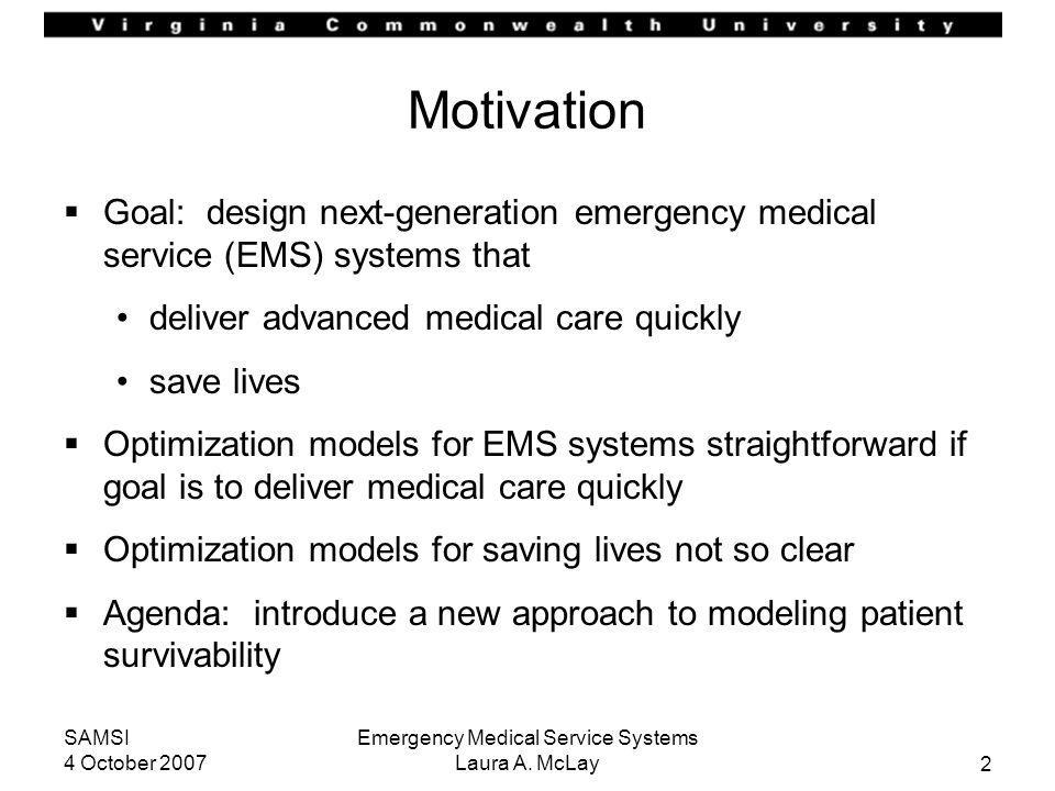 Emergency Medical Service Systems