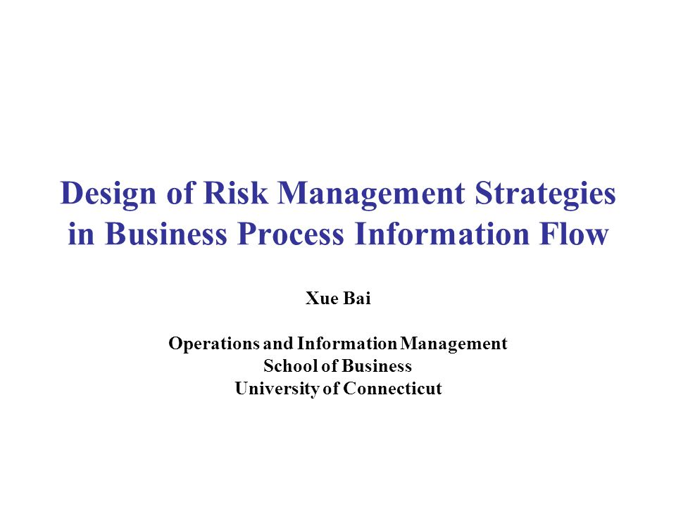 Operations and Information Management University of Connecticut