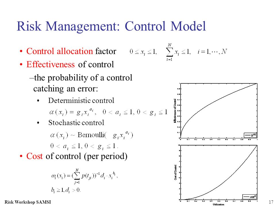 Risk Management: Control Model