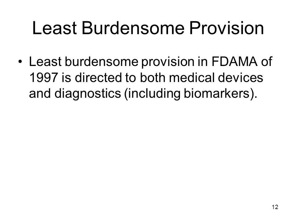 Least Burdensome Provision